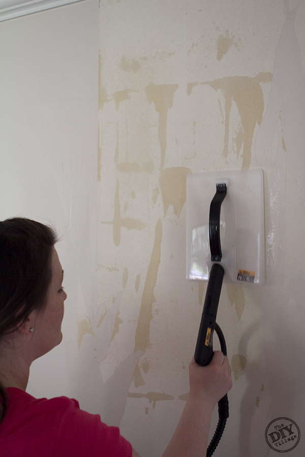 the quick steam application the wallpaper backing was easy to remove 600x900