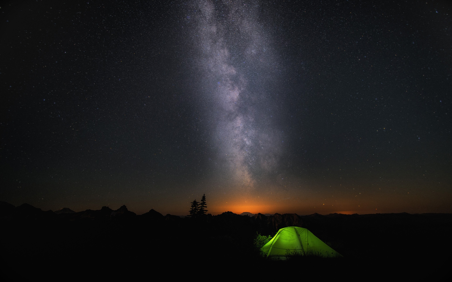 Night Camp Sky Stars Wallpapers in jpg format for download 1920x1200