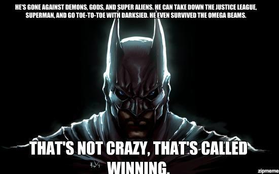 Batman is a badass   WeKnowMemes Generator 550x343