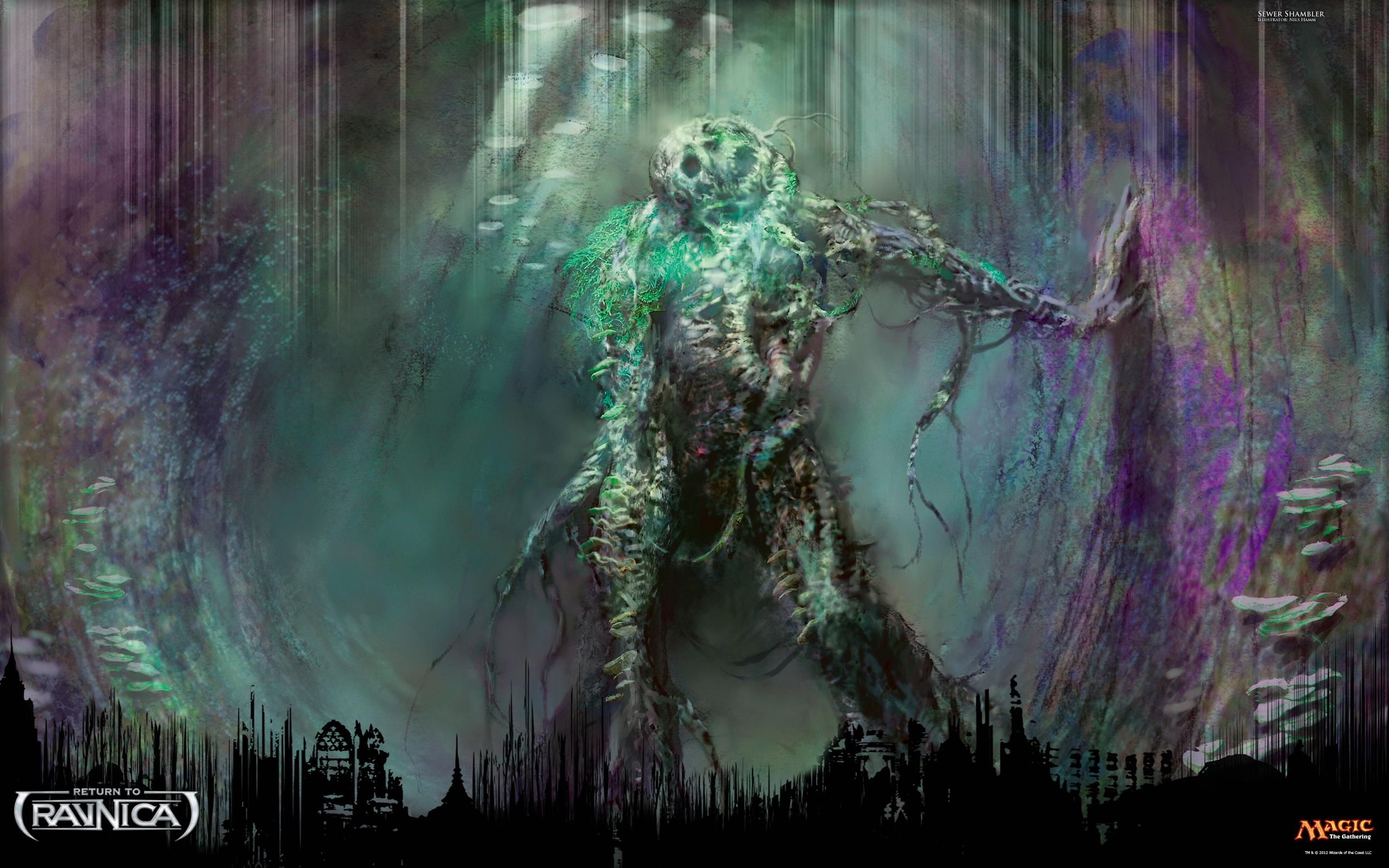 Wallpaper of the Week Sewer Shambler Daily MTG Magic The 2560x1600