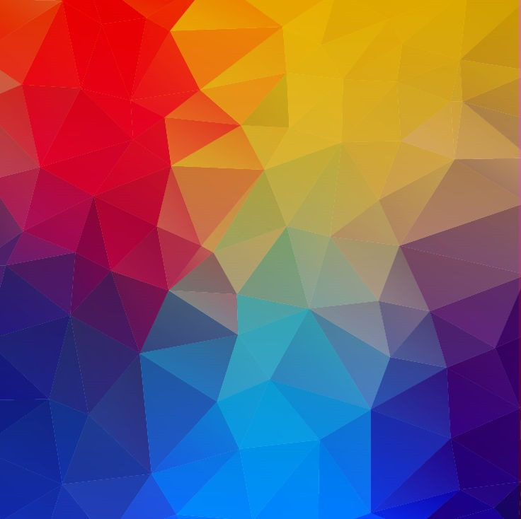 Abstract Geometric Shapes Colorful Background Vector Illustration 736x734