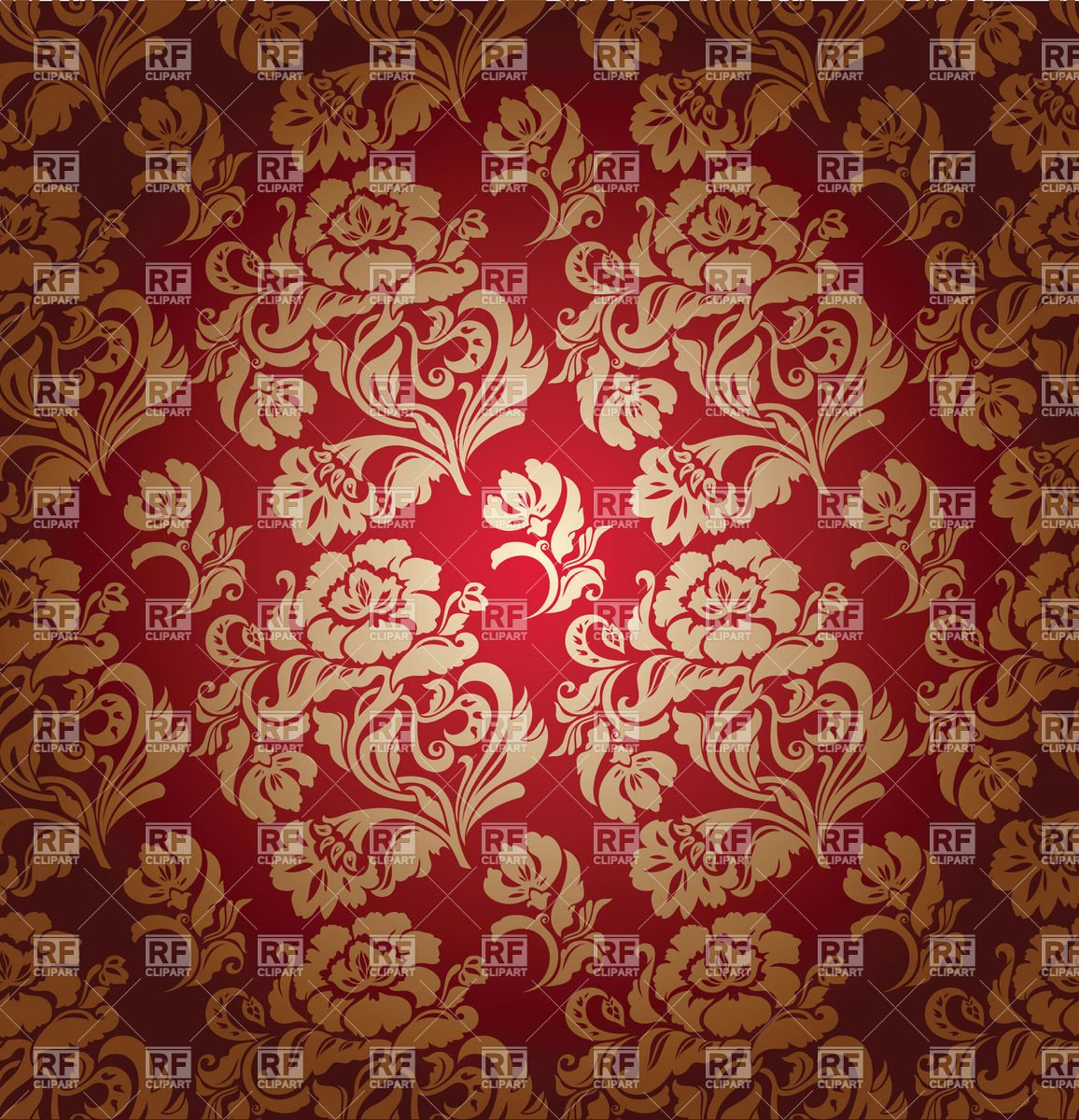 Seamless red victorian wallpaper with floral pattern download royalty 1156x1200