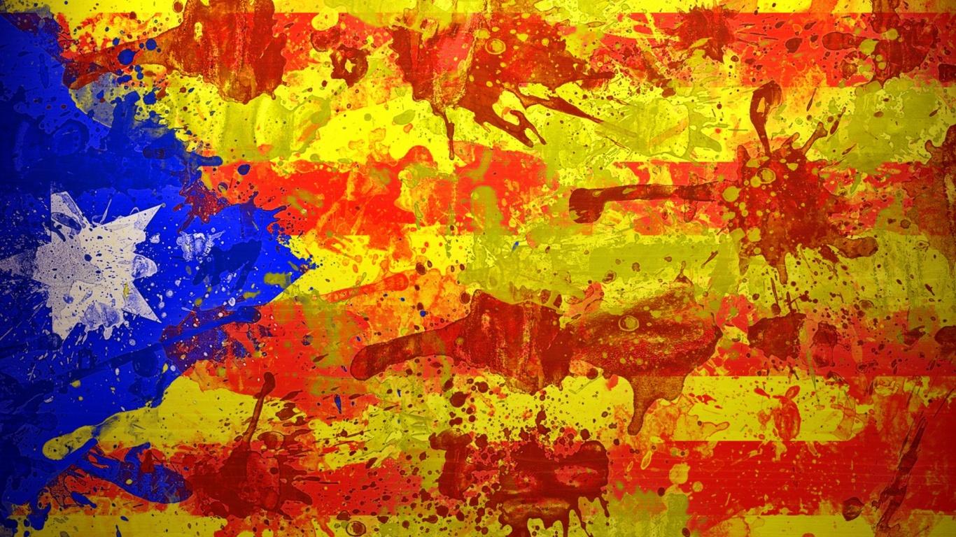 1366x768 Catalan Flag desktop PC and Mac wallpaper 1366x768
