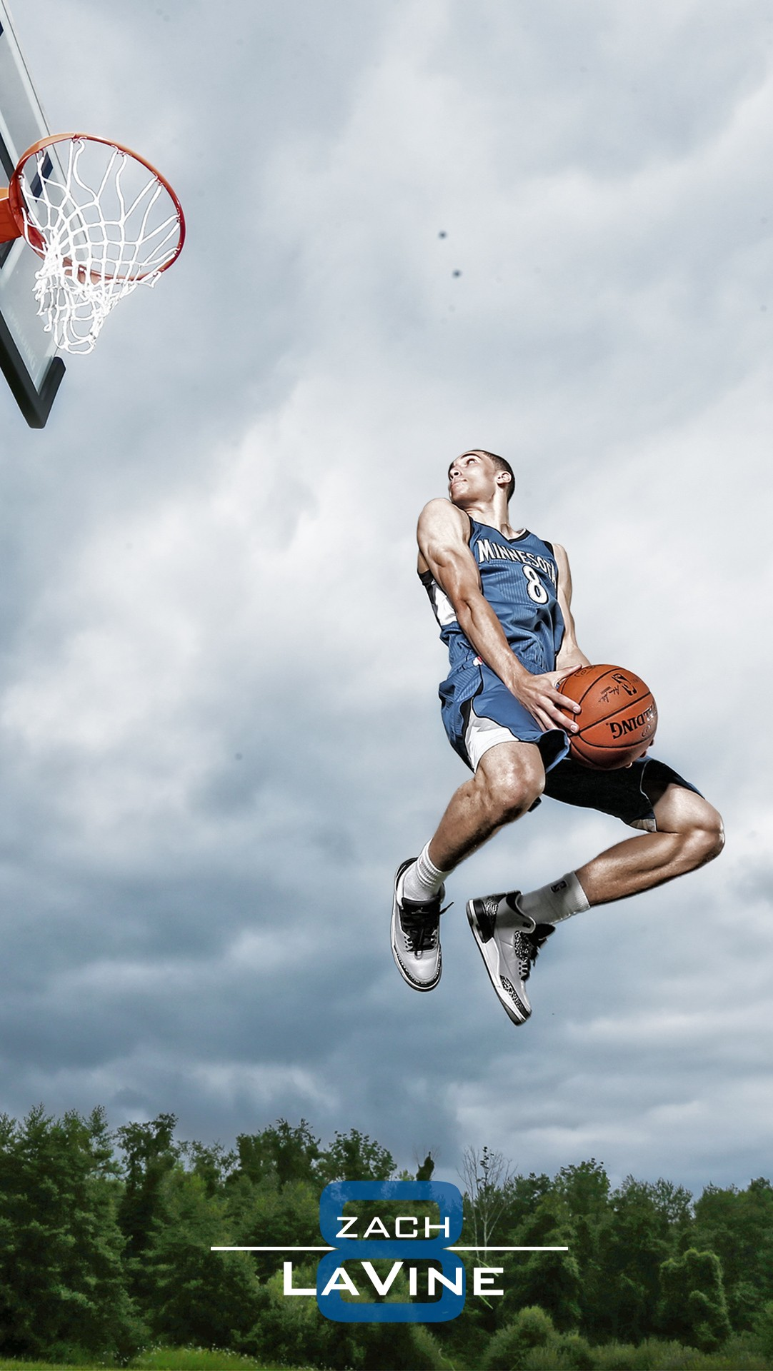 NBA Star Zach LaVine shoot Minnesota Timberwolves iPhone 6 Wallpaper 1082x1920