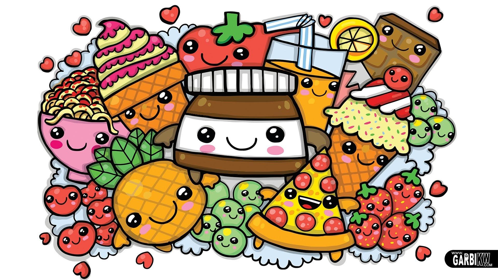Cute Kawaii Food Wallpaper 57 images 1920x1080