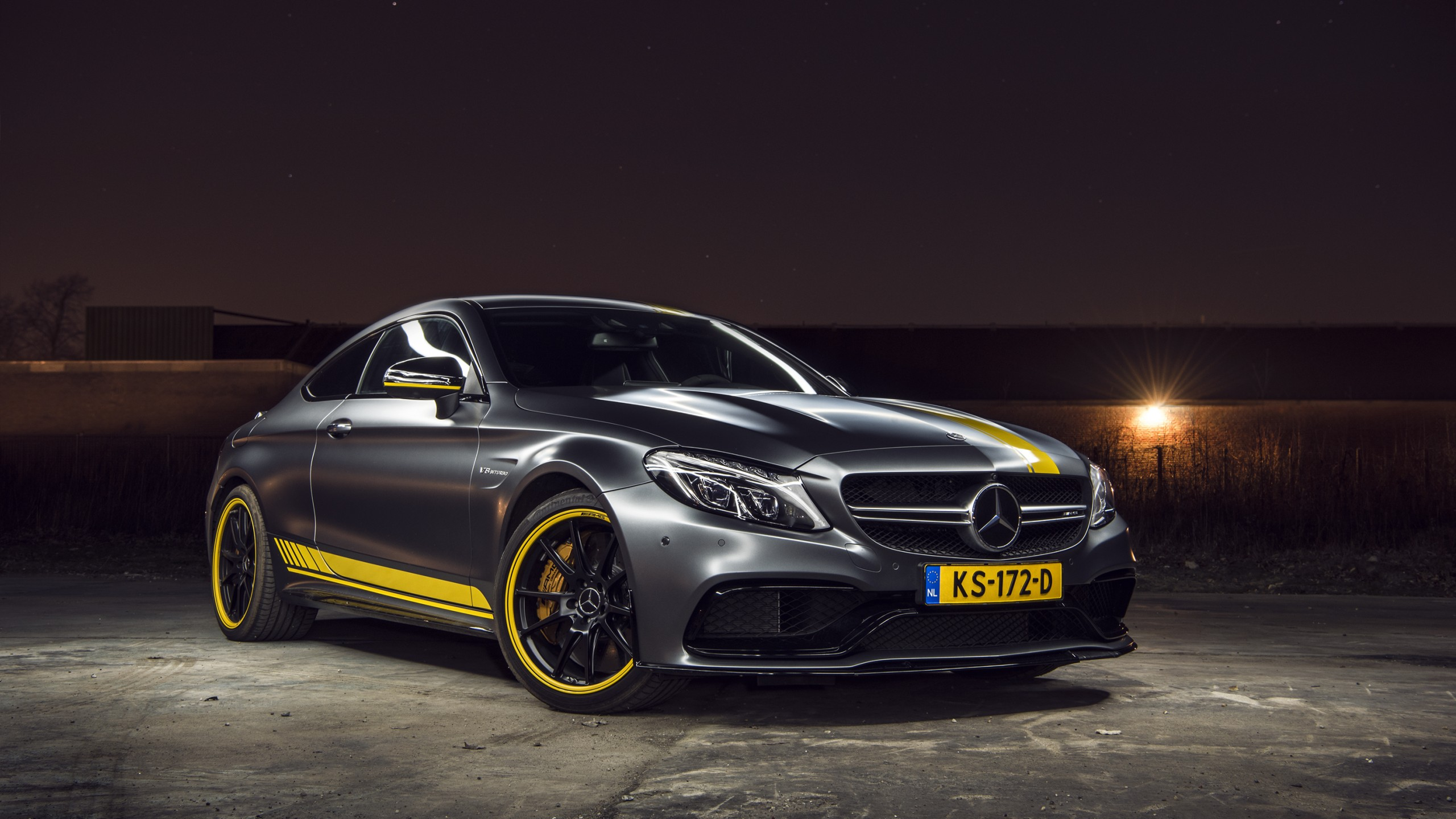 2018 Mercedes AMG C63 S Coupe HD Wallpapers 2560x1440