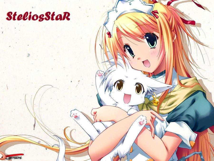 Kawaii Neko Anime Wallpaper by SteliosStaR 900x675