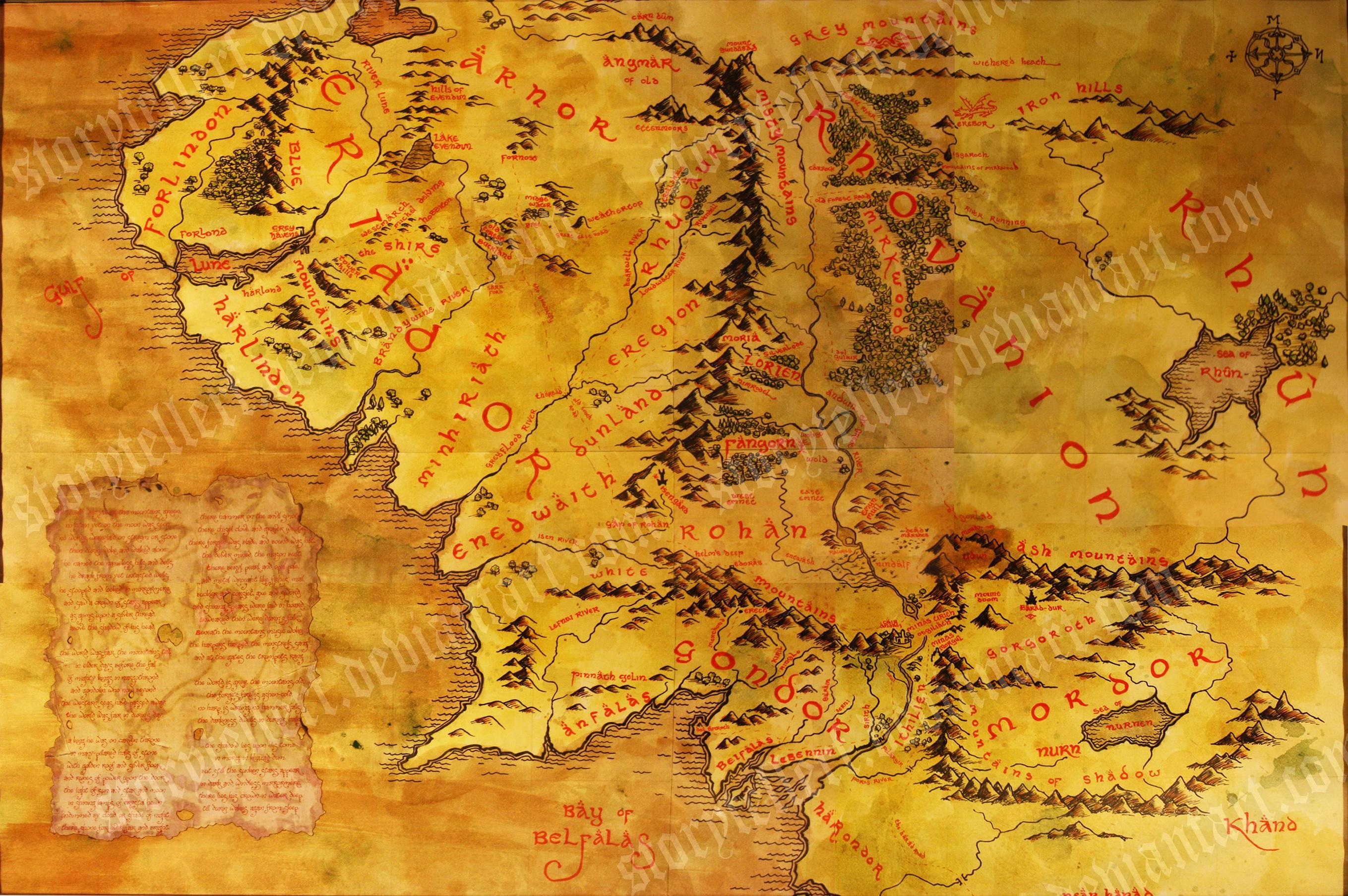 Middle Earth Map Wallpaper Wallpapersafari