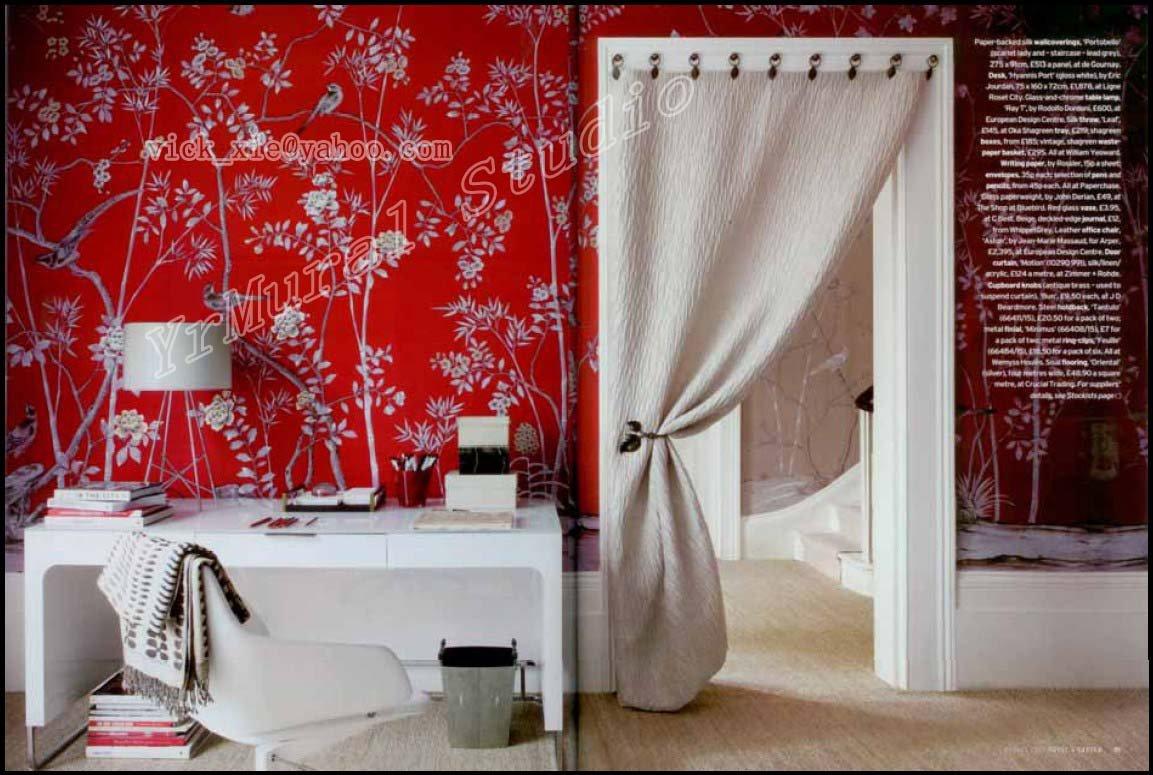 Aliexpresscom Buy Hand Painted Mural Wallpaper Chinoiserie Silk 1153x775