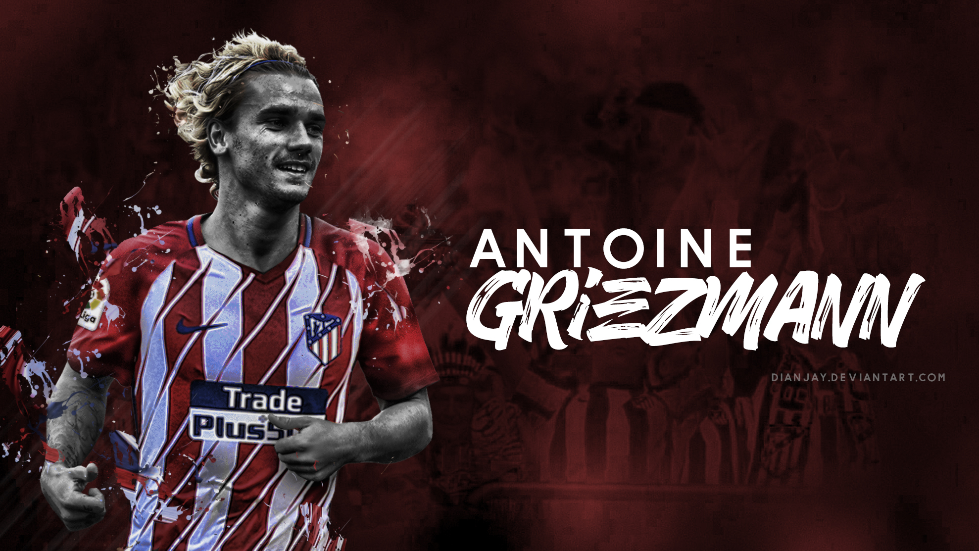 Antoine Griezmann Atletico Madrid Wallpaper by dianjay 1978x1113
