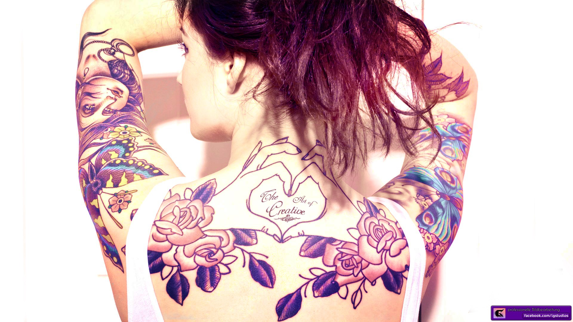 tattoo girl hd wallpaper - photo #30
