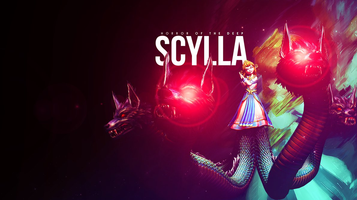 smite scylla wallpaper by equilib fan art wallpaper games 2014 1191x670