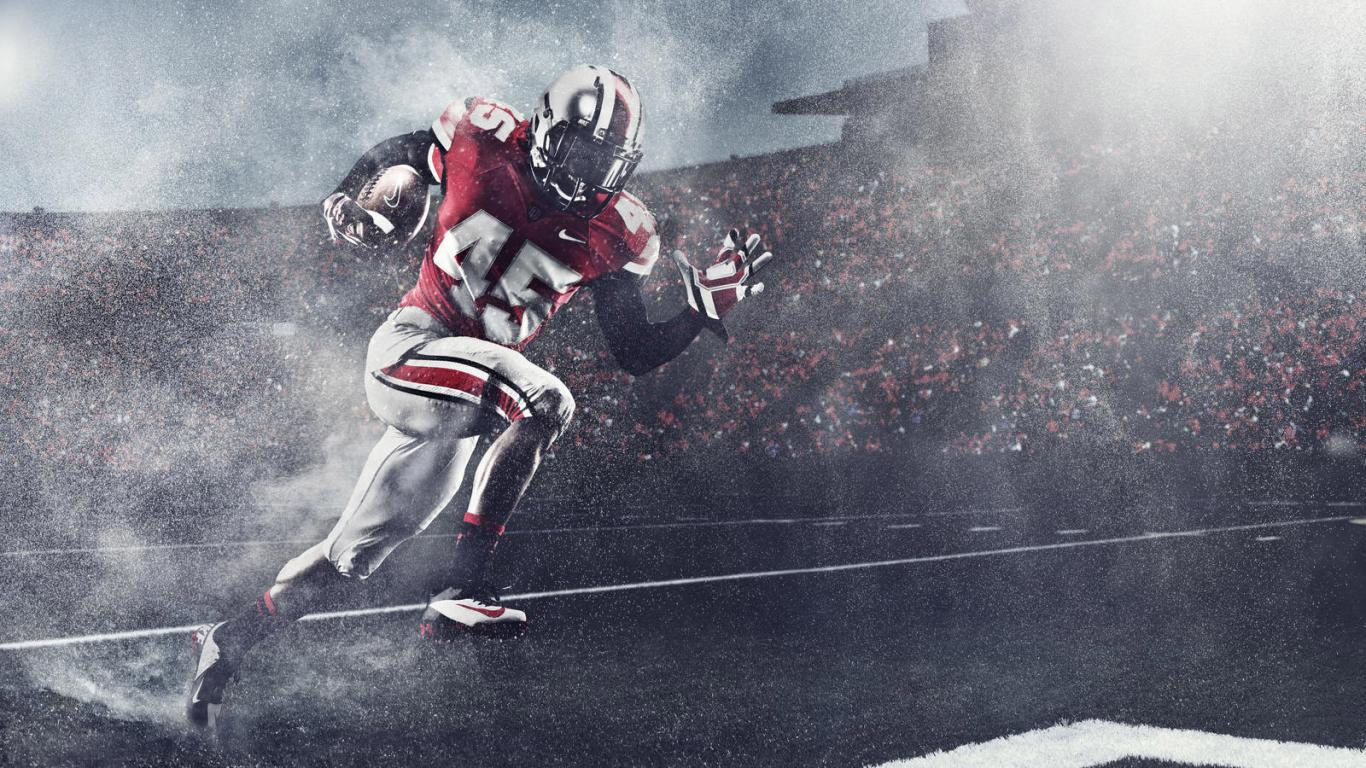 Ohio State Football Team Wallpaper with New Uniform HD Wallpapers 1366x768