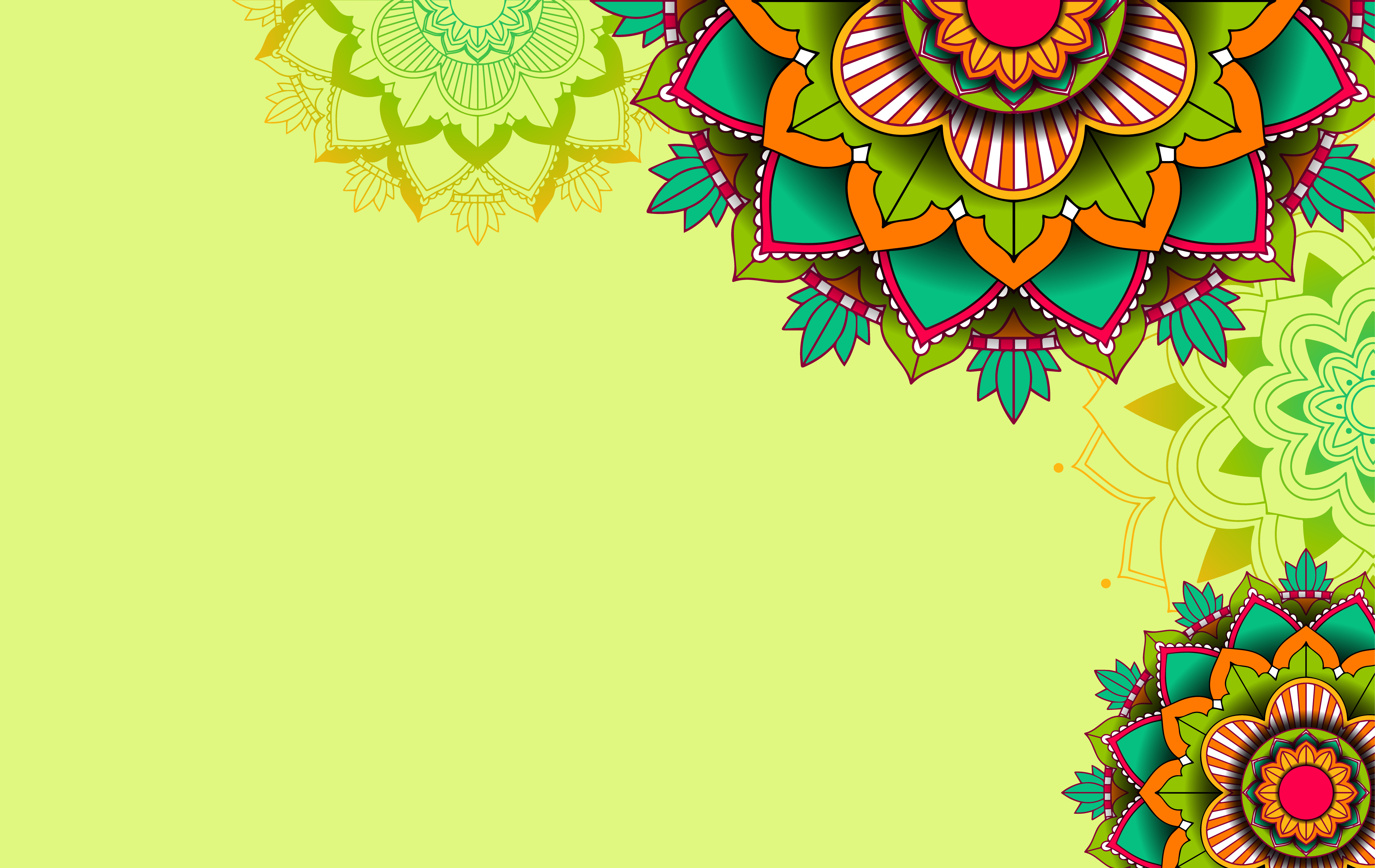 Green background template with mandala 1361051   Download 5932x3746