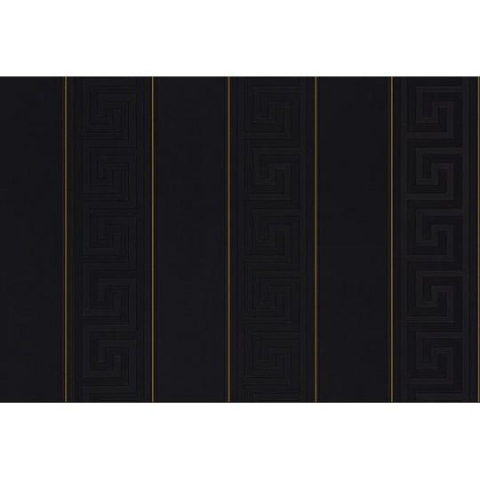 Shop By Style Feature Wall Greek BlackGold Stripe Wallpaper 540x540