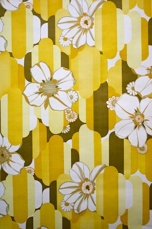 Geometric Floral Retro Vinyl Wallpaper 533x800