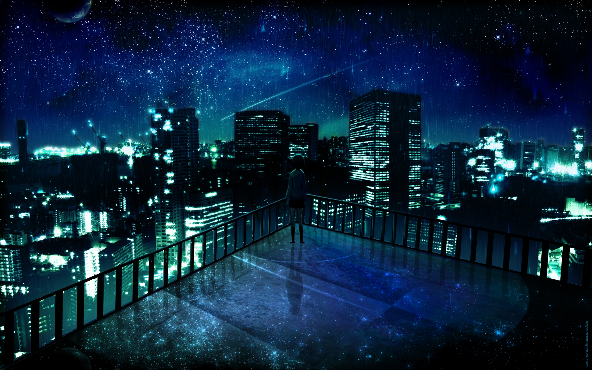 Download Manga Night City Lala Sama Club Ados Design Wallpaper 1920x1200