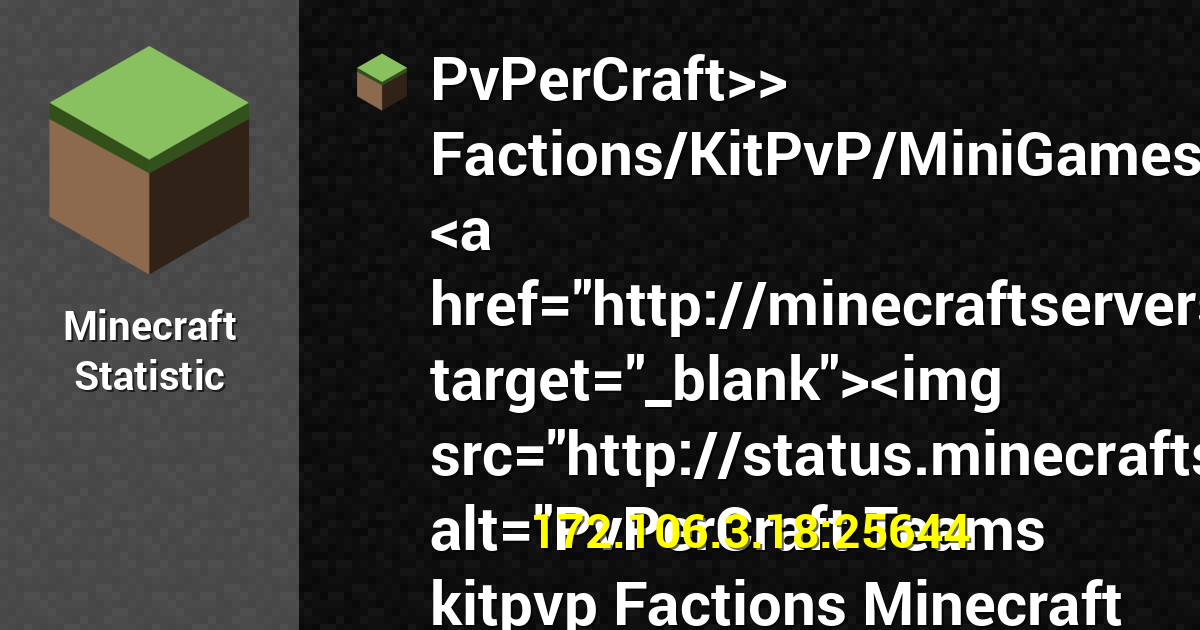 Userbars for PvPerCraft FactionsKitPvPMiniGames a hrefhttp 1200x630