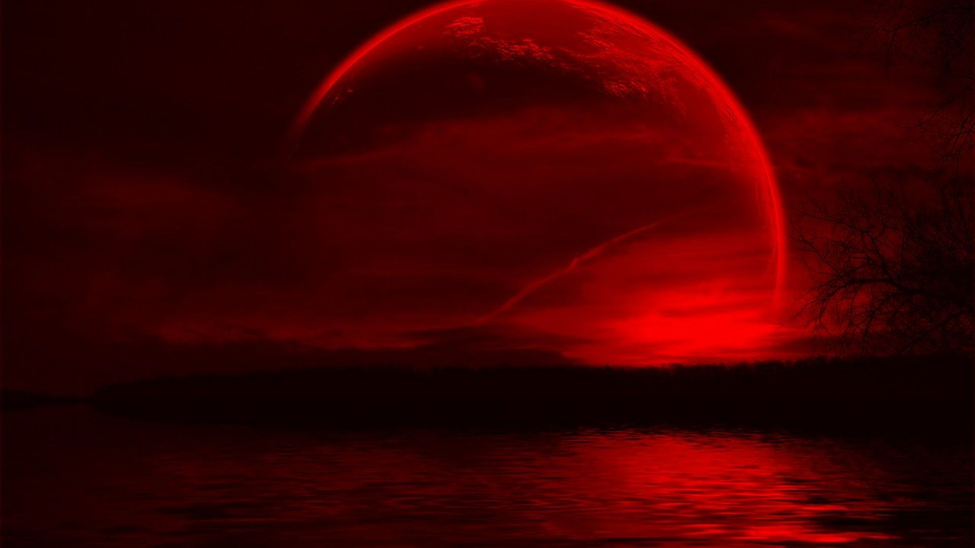 Super Moon Lunar Eclipse Wallpaper HD Blood red moon Red moon 1920x1080