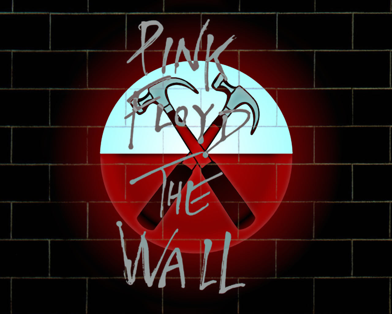 Music   Pink Floyd Floyd Pink Wall Hammers The Wall Bricks Wallpaper 1280x1024
