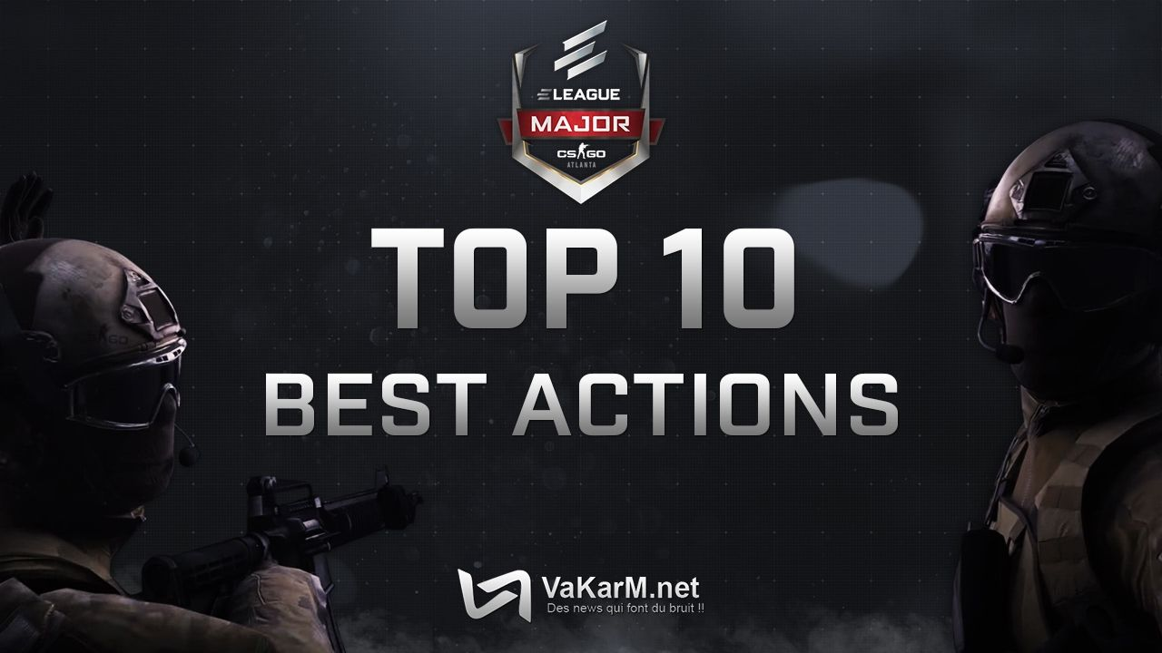 Top 10 Best Actions from ELEAGUE Major starring krimz flamie NiKo 1280x720