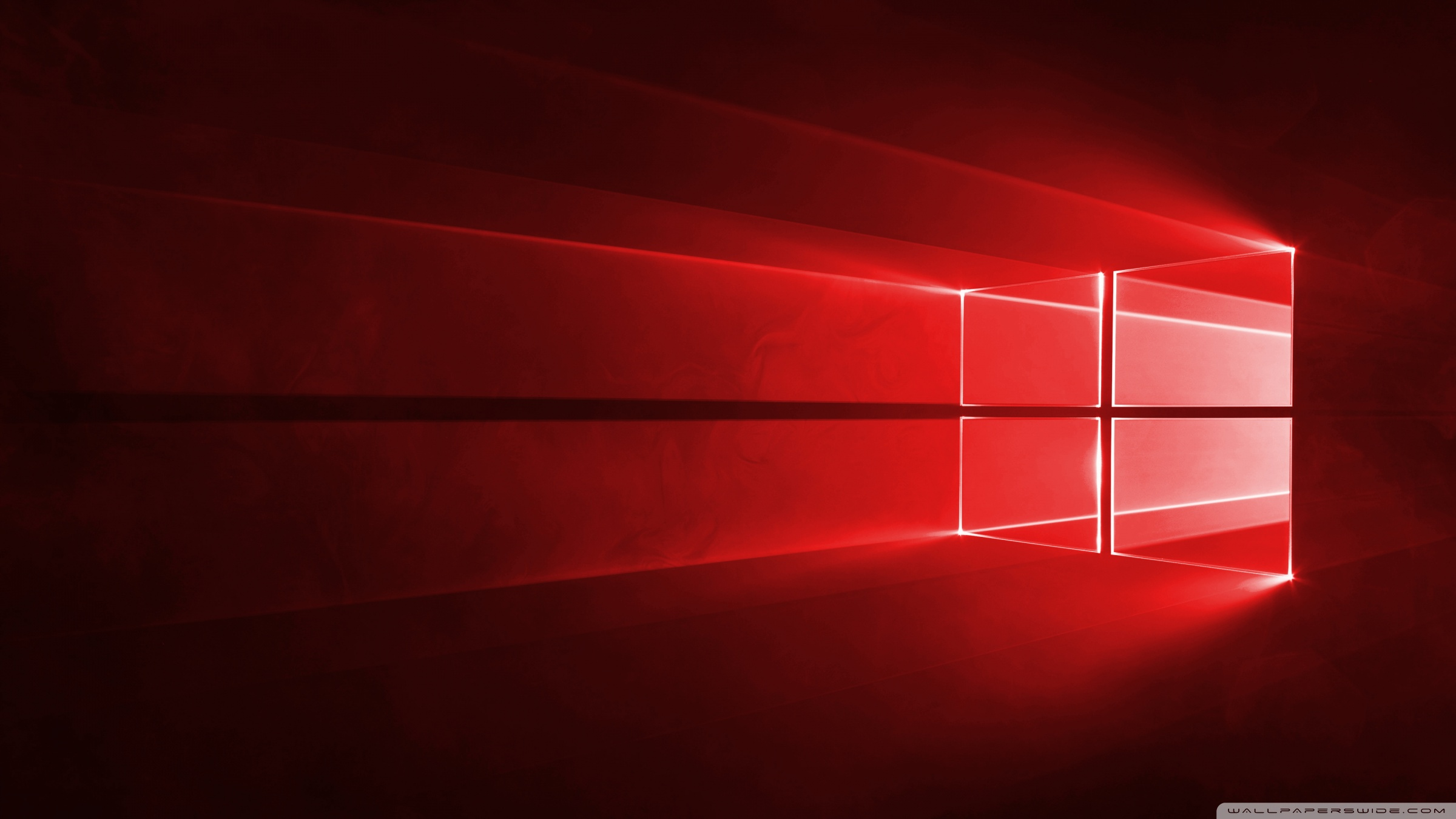 Windows 10 Red in 4K 4K HD Desktop Wallpaper for Wide Ultra 2400x1350