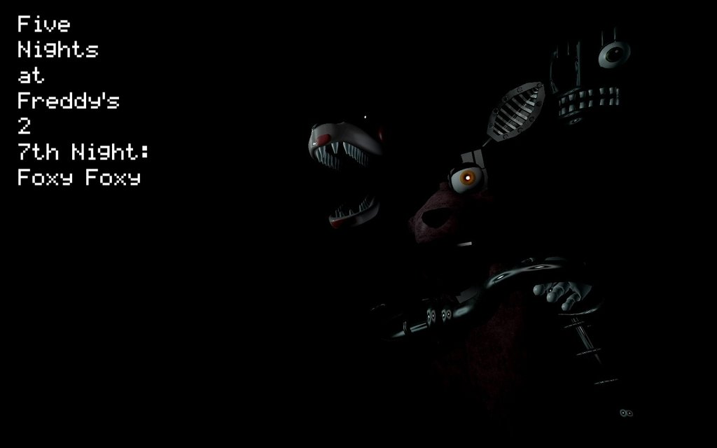 Gmod] FNAF 2 Wallpaper 7th Night Foxy Foxy by Movie Photo Maker97 1024x640