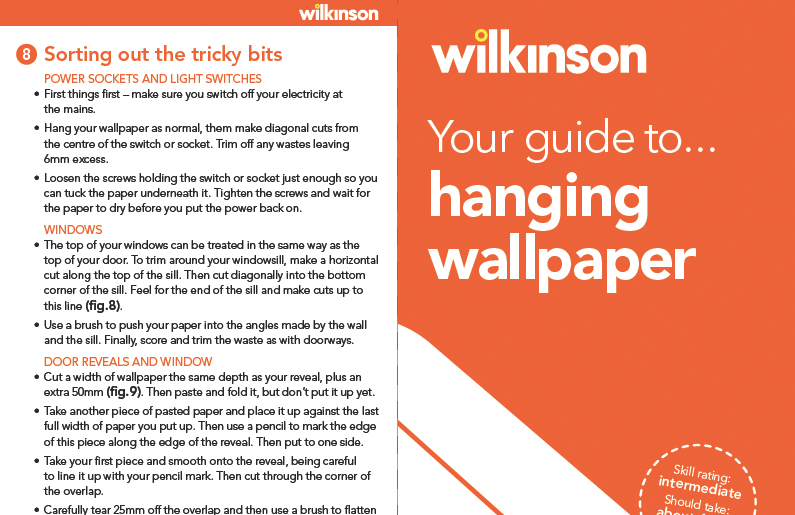 How to hang wallpaper How to guides Wilkolife 795x515