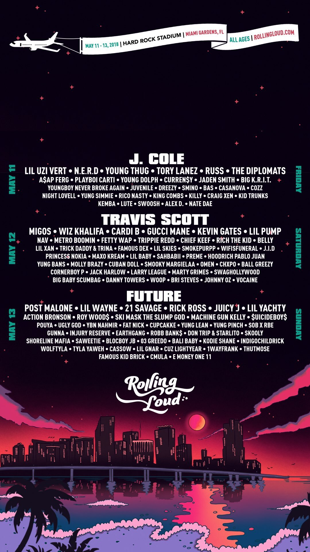 Rolling Loud on Twitter iPhone wallpaper rollingloud 1080x1920