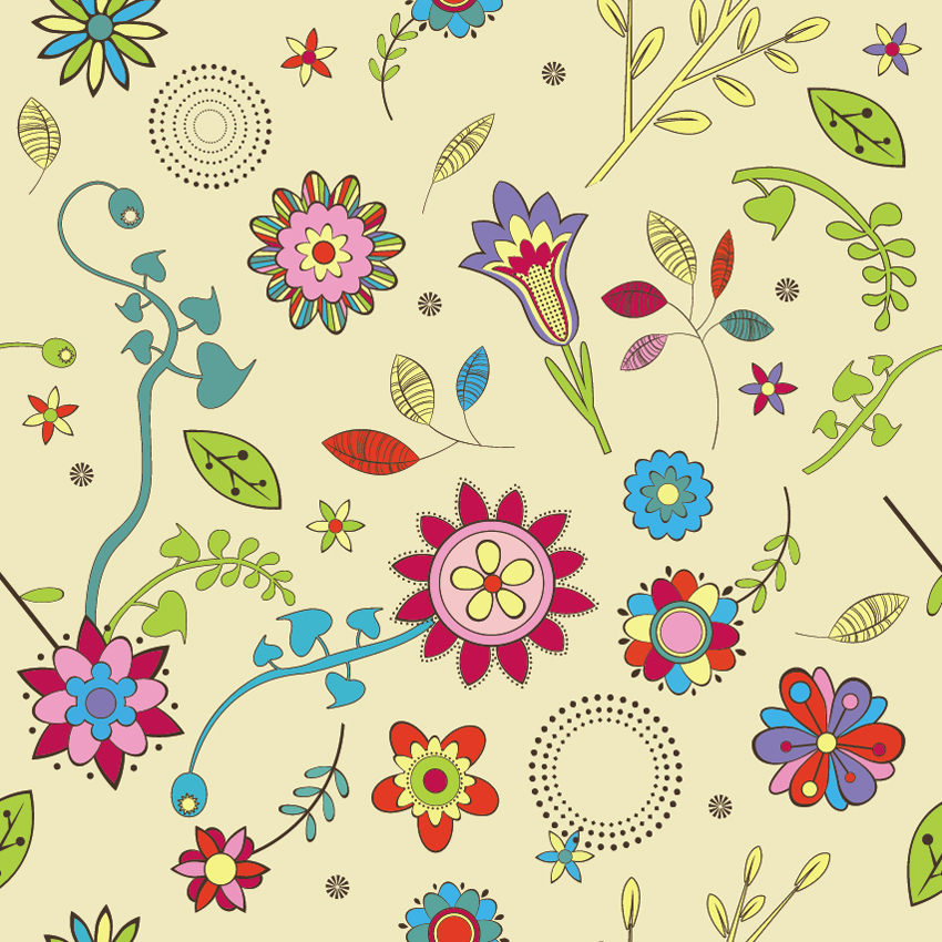 Cute Flowers Wallpaper Pattern 850x850