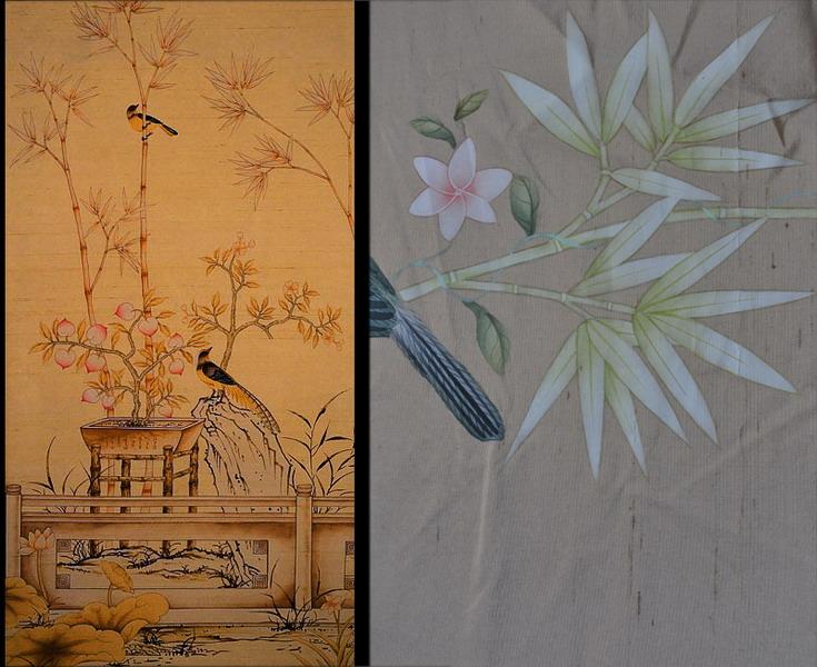 chinese wallpaper chinoiserie wallpaper silk wallpaper hand 735x600