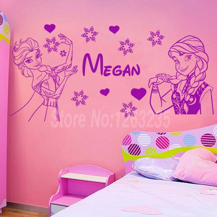 free shipping Personalized custom Name beautiful Girls wall decals 750x750