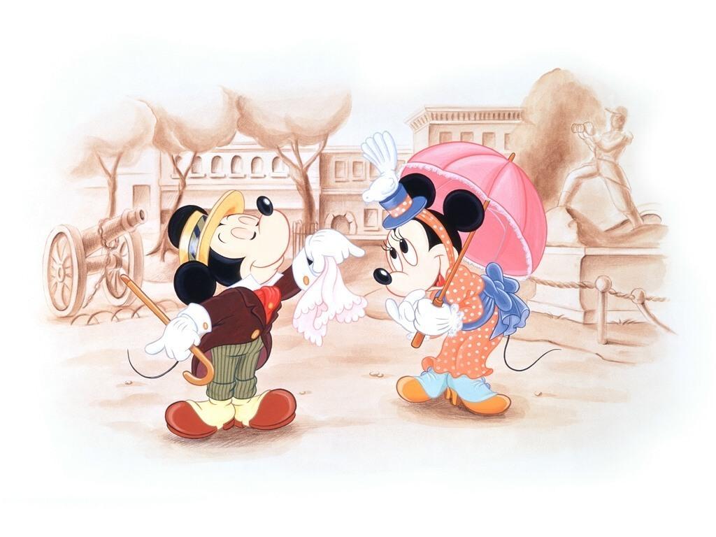 Mickey And Mini   Classic Disney Wallpaper 9614315 1024x768