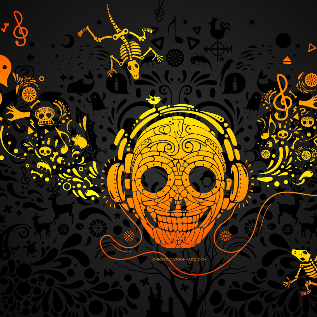 Crazy Music iPad Wallpaper Download iPhone Wallpapers iPad 1024x1024