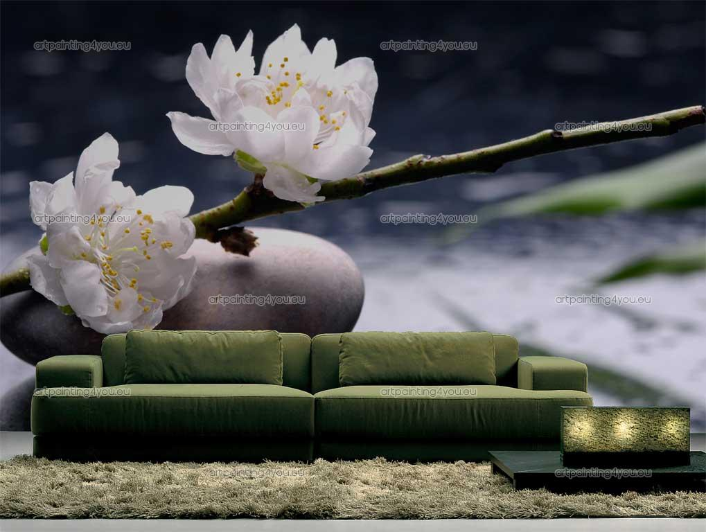Wall Murals Zen Spa Canvas Prints Posters   Zen Stones Flowers 1019x768
