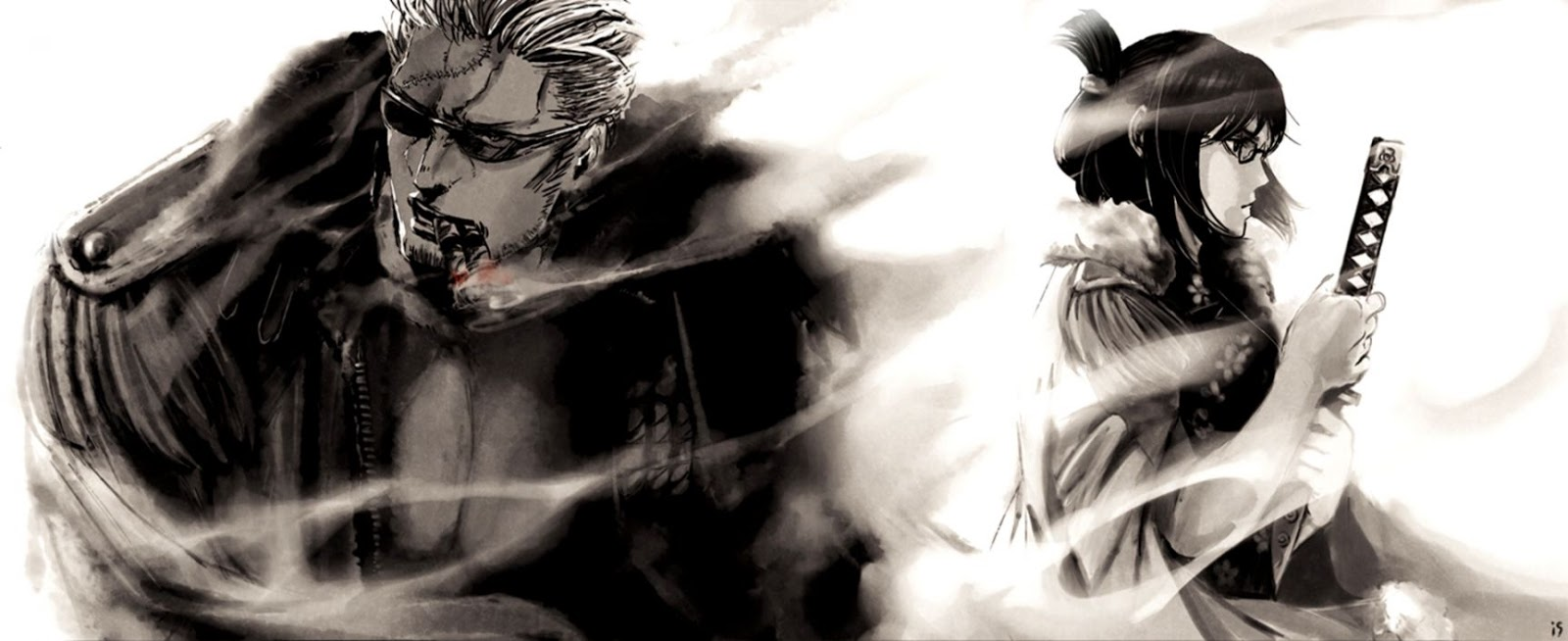 Smoker One Piece Anime Background Wallpapers 1600x654