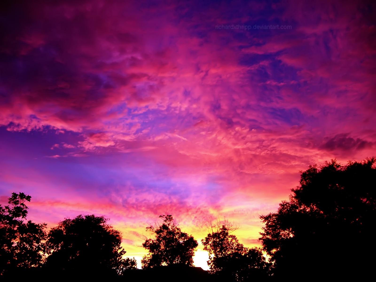 Fiery Pink Sunset 2 Wallpaper by richardxthripp 1600x1200