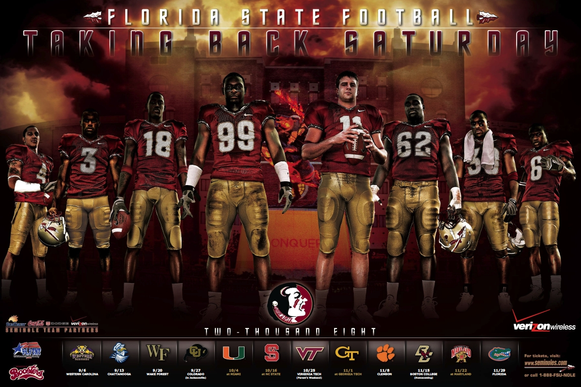 FSU Football Poster by Old Hat Creative Full Service Norman 1174x782