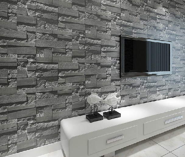 brick 3d stone wallpaper modern wallcovering pvc roll wallpaper brick 608x516