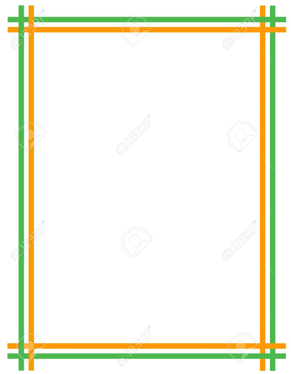 St Patricks Day Background Border With Green And Orange 1011x1300