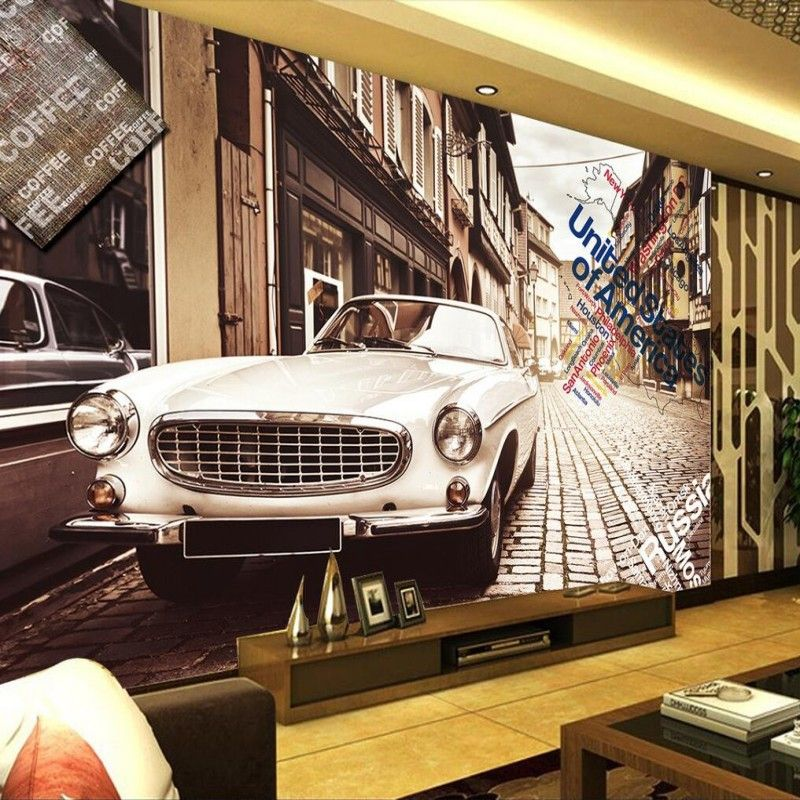 Custom 3D wallpaper graffiti retro car wallpaper cafe bar room 800x800