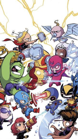 Chibi Marvel iPhone Wallpaper 325x576