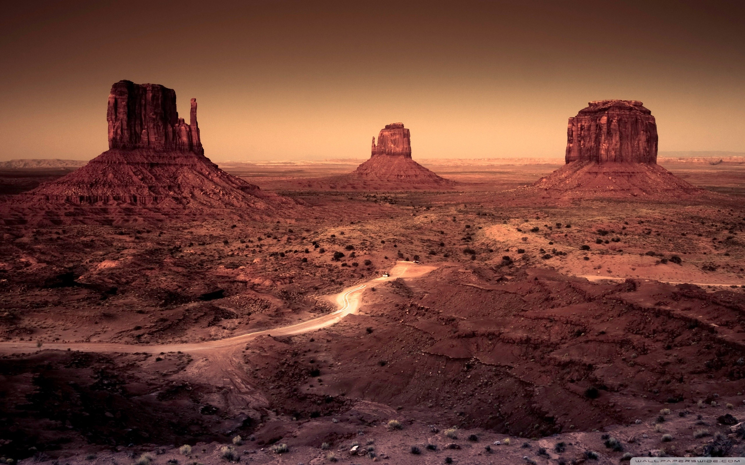 desert arizona monument valley rock formations wallpaper background 2560x1600