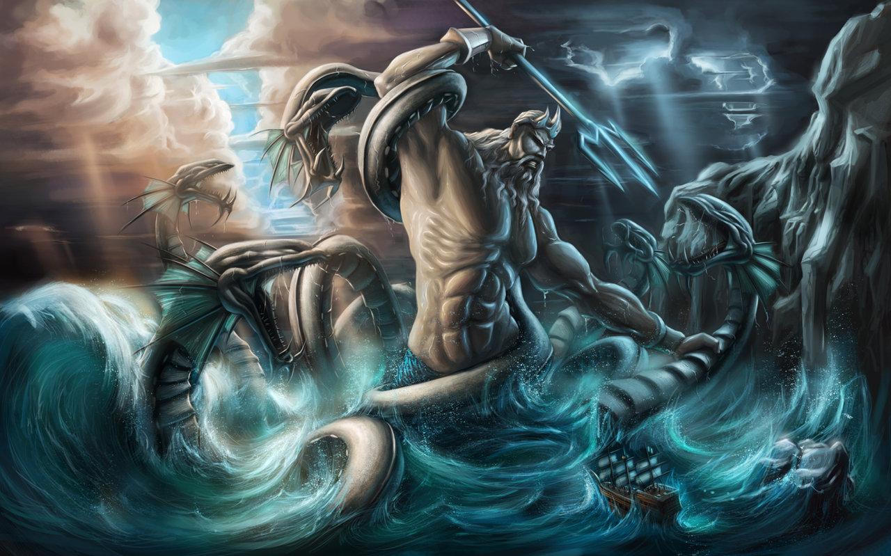 greek hd images kraken monsters mythology other poseidon sea wallpaper 1280x799
