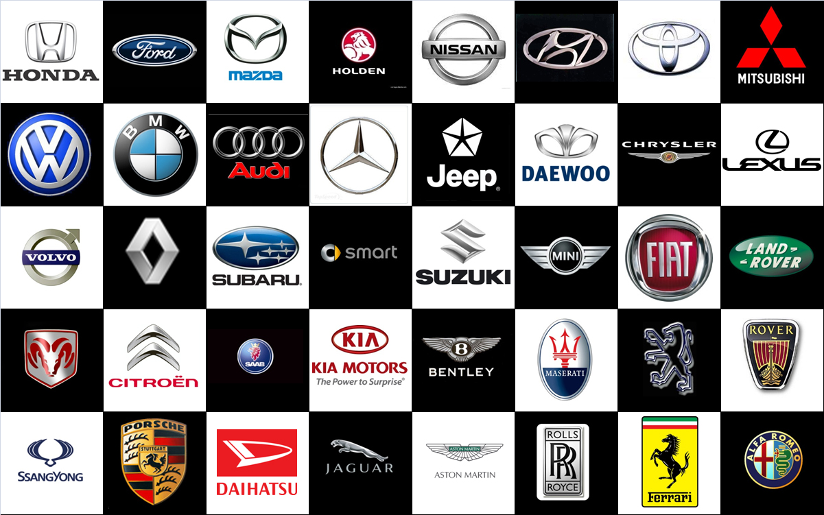 Car Brand Logos And Names 1201x751