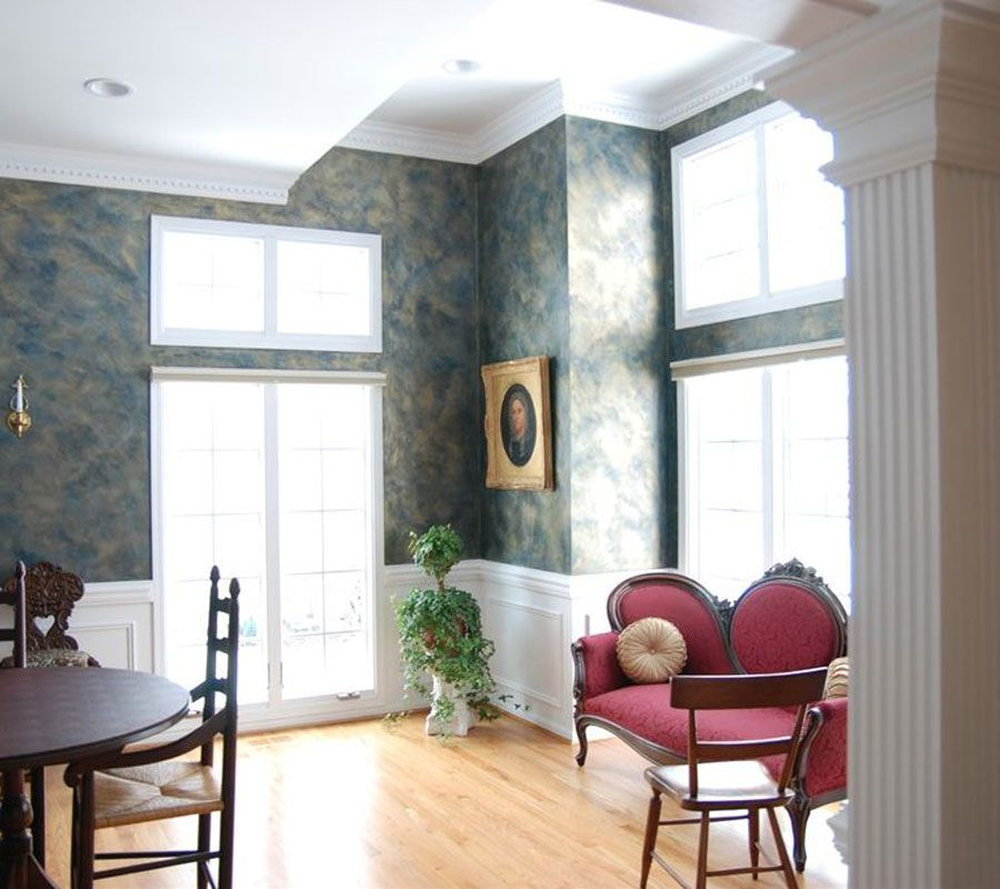 Romantic Rooms And Decorating Ideas: [34+] Wallpaper And Paint Combination Ideas On WallpaperSafari