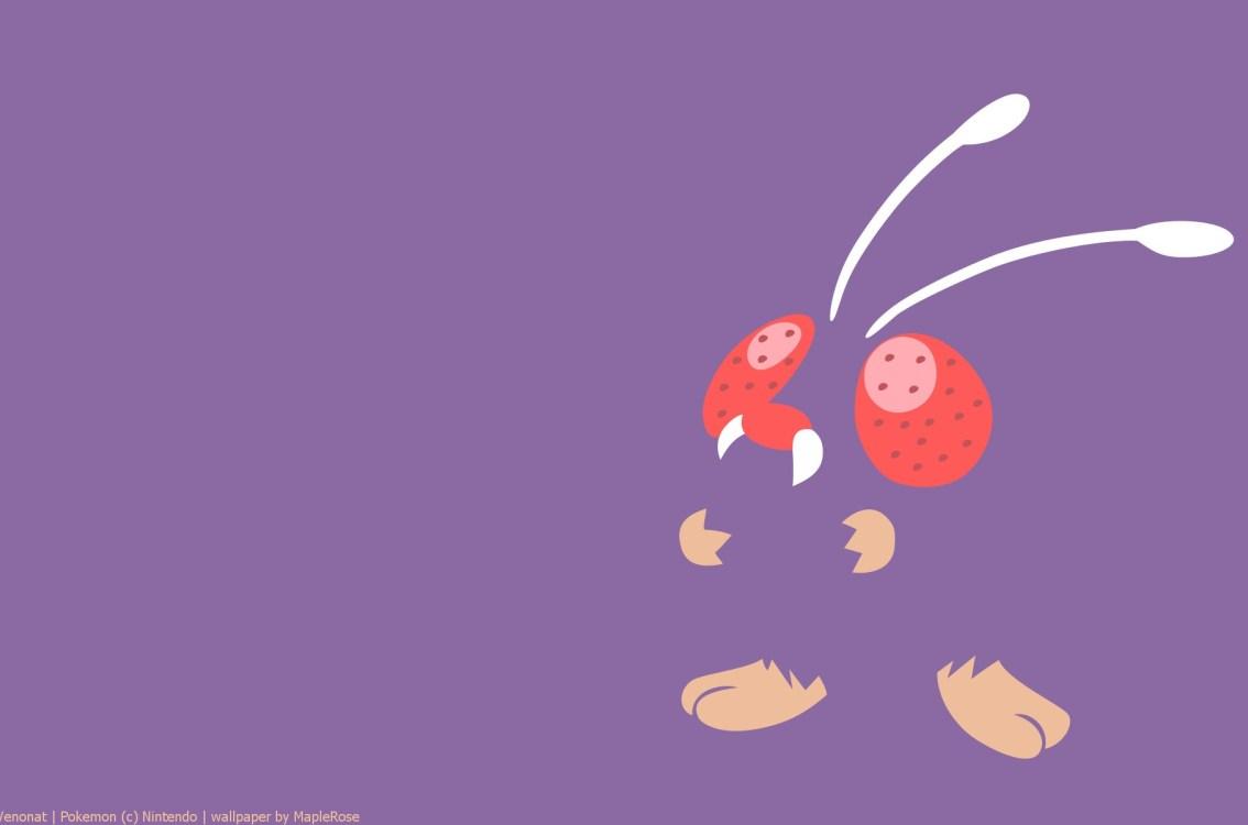 Minimal Pokemon Pokemon Generation I Venonat HD Wallpaper 1134x750