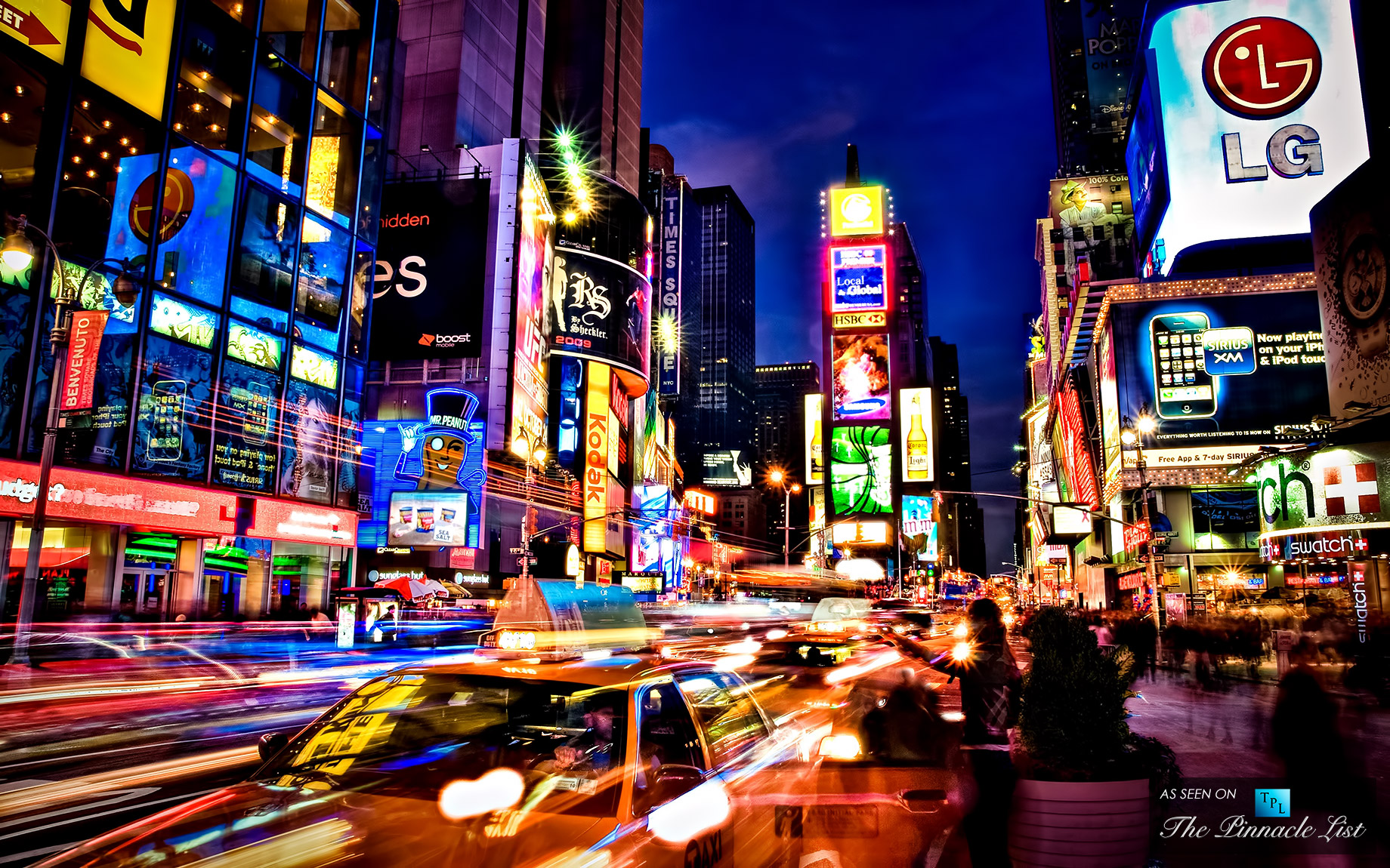 Times Square new york usa city cities neon lights traffic night t 1840x1150
