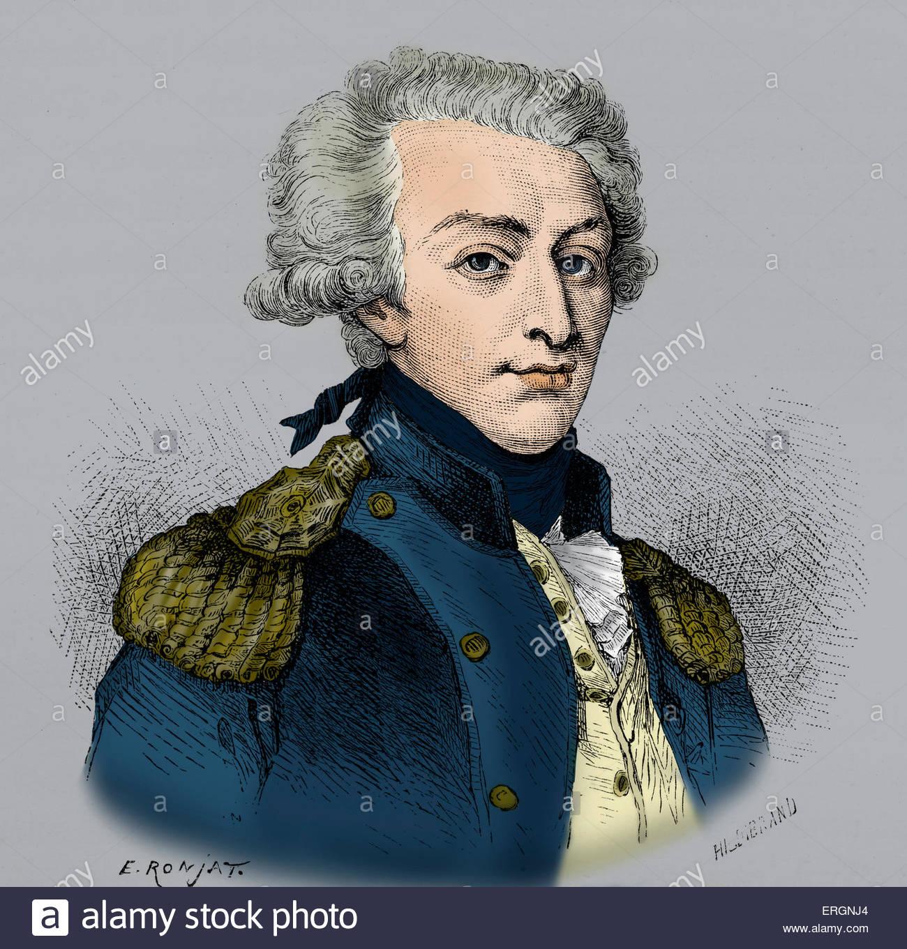 Gilbert Du Motier Marquis De Lafayette Stock Photos Gilbert Du 1300x1361