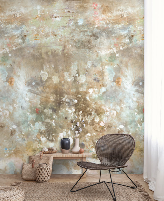 Cream Brown Distressed Shabby Chic Wallpaper   Feathr Wallpapers 653x800
